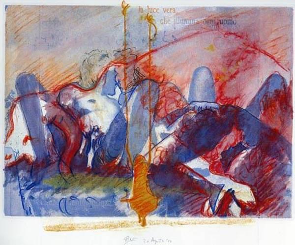 Violation Mixed Media - La Pieta by Giovanni Greppi