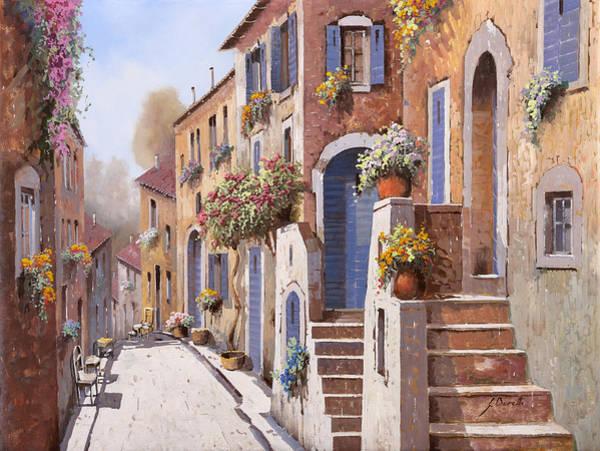 Street Scenes Wall Art - Painting - I Gradini Al Sole by Guido Borelli
