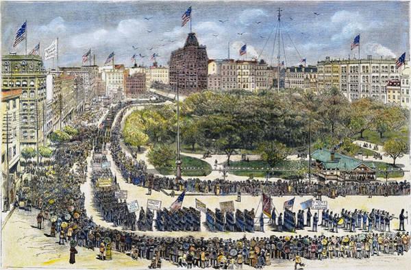 Wall Art - Photograph - Labor Day Parade, 1882 by Granger