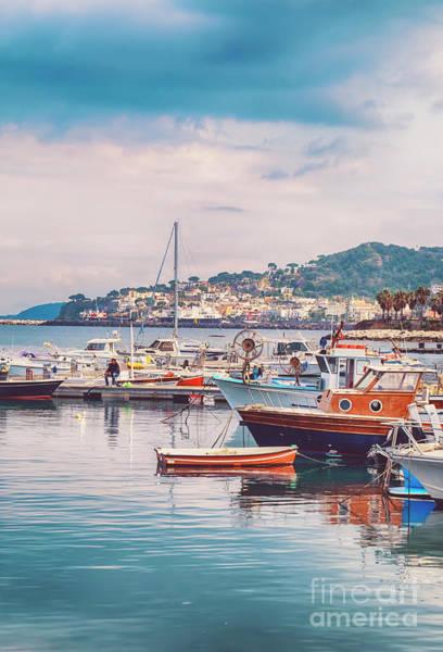 Photograph - Lacco Ameno Harbour ,  Ischia Island In Italy by Ariadna De Raadt
