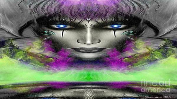 Digital Art - Lady Colorful by Swedish Attitude Design