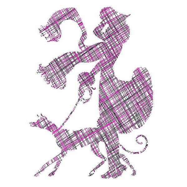Digital Art - Lady Dog Walker Threads Transparent Background by Barbara St Jean