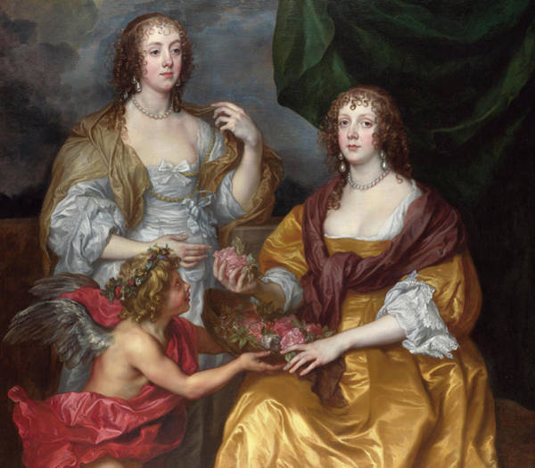 Nobility Painting - Lady Elizabeth Thimbelby And Her Sister by Anthony van Dyck