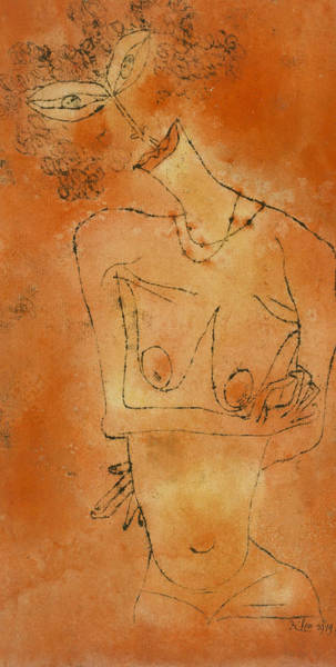 Drawing - Lady Inclining Her Head by Paul Klee