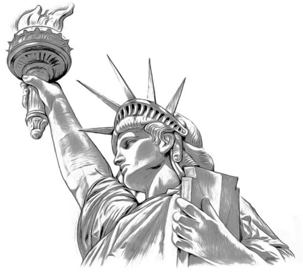 Wall Art - Digital Art - Lady Liberty by Greg Joens