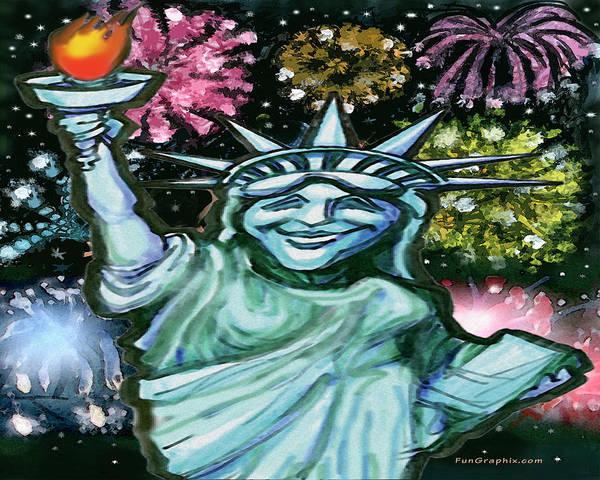 Digital Art - Lady Liberty by Kevin Middleton