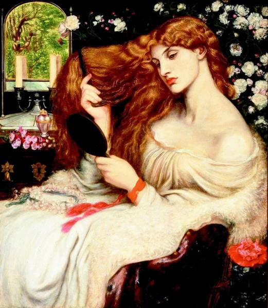 Painting - Lady Lilith by Dante Gabriel Rossetti