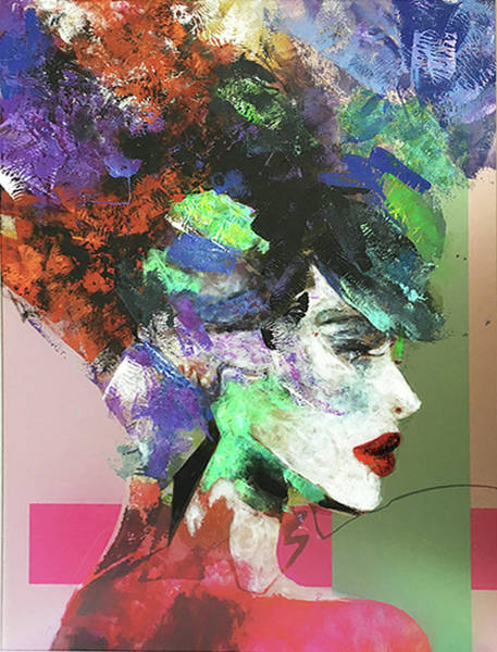 Acrilic Painting - Lady by Samanta Malavasi