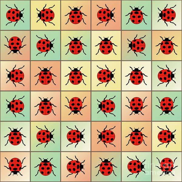 Wall Art - Digital Art - Ladybugs Pattern by Gaspar Avila