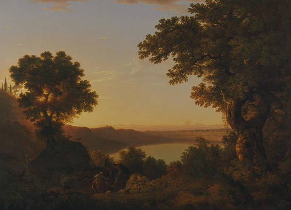 Painting - Lake Albano, Italy by Thomas Jones