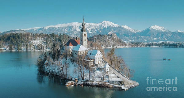 Wall Art - Photograph - Lake Bled Winter Dreams by JR Photography