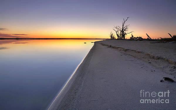 Drown Photograph - Lake Bonney Sunrise Barmera Riverland South Australia by Bill  Robinson