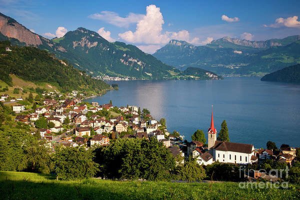 Wall Art - Photograph - Lake Lucerne by Brian Jannsen