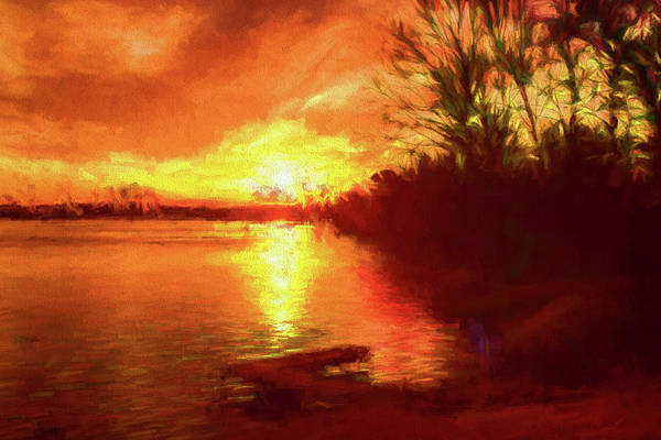 Painting - Lake Sunrise by Barry Jones