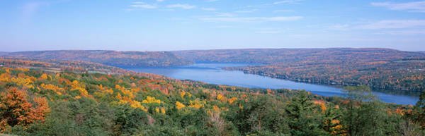 Peacefulness Photograph - Lake Surrounded By Hills, Keuka Lake by Panoramic Images