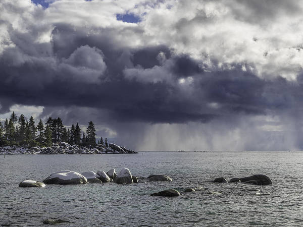 Photograph - Lake Tahoe Storm by Martin Gollery