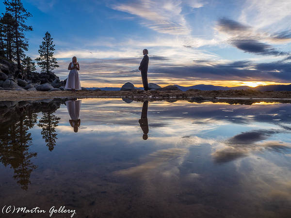 Photograph - Lake Tahoe Wedding  by Martin  Gollery