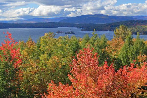 Lake Winnipesaukee Wall Art - Photograph - Lake Winnipesaukee Fall Foliage by John Burk