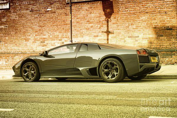 Supercar Photograph - Lamborghini by Hristo Hristov