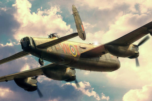 Wall Art - Digital Art - Lancaster Skies by J Biggadike