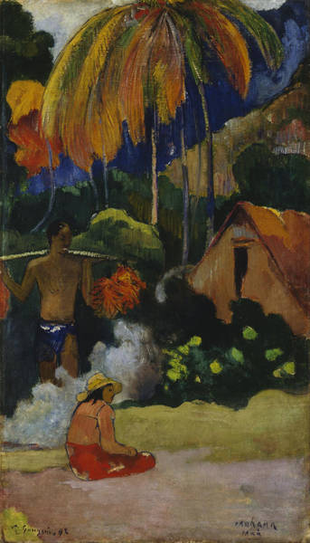 Painting - Landscape In Tahiti by Paul Gauguin