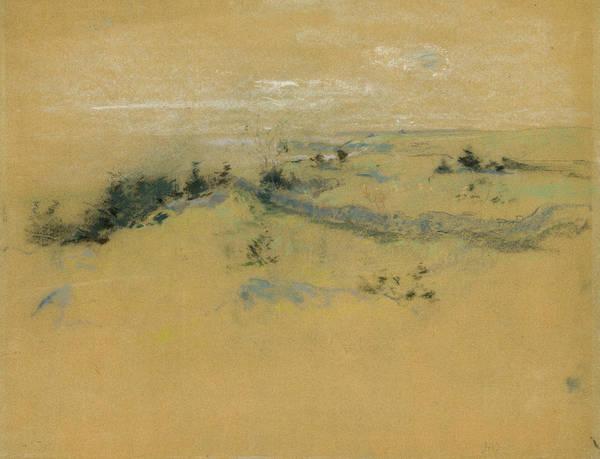 Pastel - Landscape by John Henry Twachtman