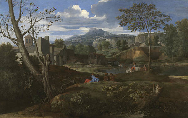 Painting - Landscape by Nicolas Poussin