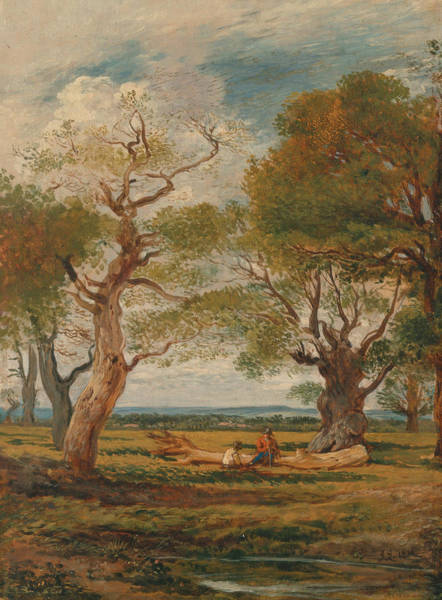 Painting - Landscape With Figures by John Linnell