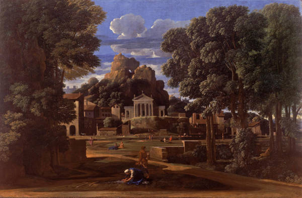 Ashes Painting - Landscape With The Ashes Of Phocion by Nicolas Poussin