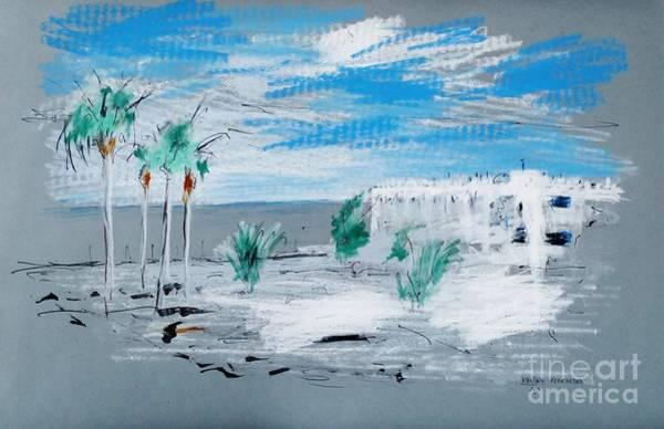 Drawing - Lanzarote Blue by Karina Plachetka