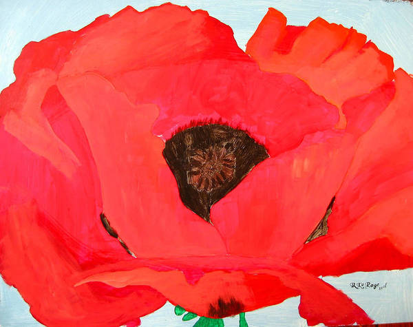 Painting - Large Poppy by Richard Le Page
