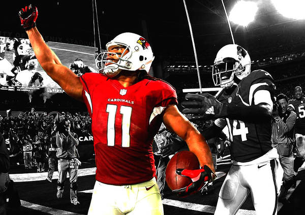 Wall Art - Mixed Media - Larry Fitzgerald by Brian Reaves