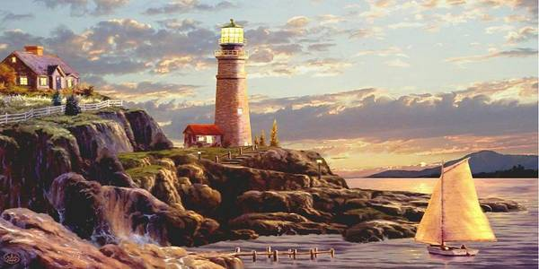 Cape May Painting - Last Light 2 by Ron Chambers