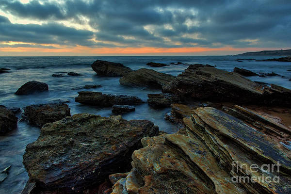 Photograph - Last Light At Crystal Cove by Eddie Yerkish