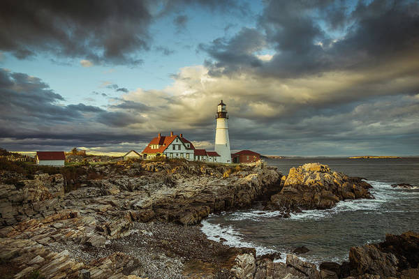 Wall Art - Photograph - Last Light At Portland Head by Tom Weisbrook