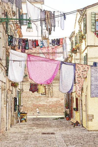 Wall Art - Photograph - Laundry Day In Venice by Michael Henderson