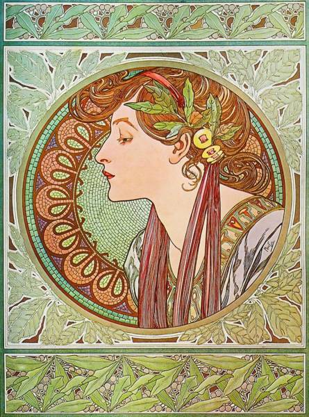 Painting - Laurel by Alphonse Mucha