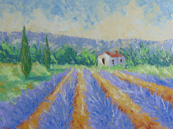 Painting - Lavender Provence by Frederic Payet