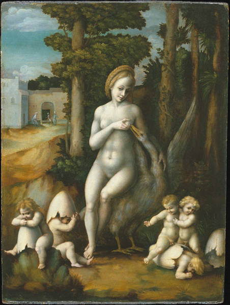 Perfect Body Painting - Leda And The Swan by Bachiacca