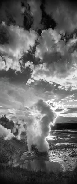 Basin Photograph - Ledge Geyser Yellowstone N P by Steve Gadomski