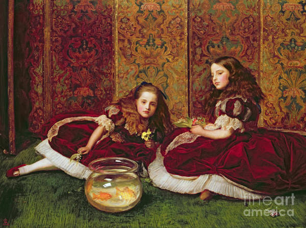 1864 Wall Art - Painting - Leisure Hours by Sir John Everett Millais
