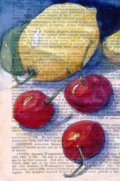 Wall Art - Painting - Lemon And Cherries 3 by Maria Hunt