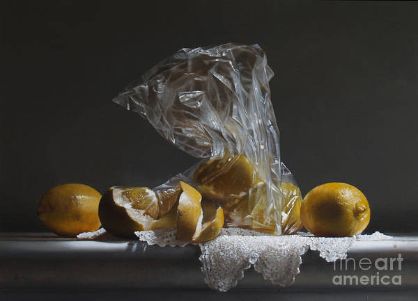 Citrus Painting - Lemons by Lawrence Preston
