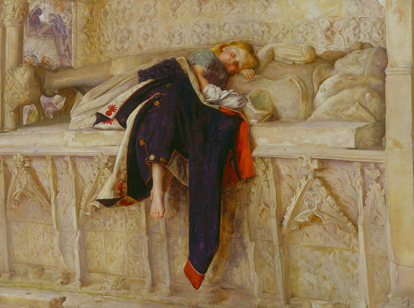 Pre-raphaelite Brotherhood Painting - L'enfant Du Regiment by John Everett Millais