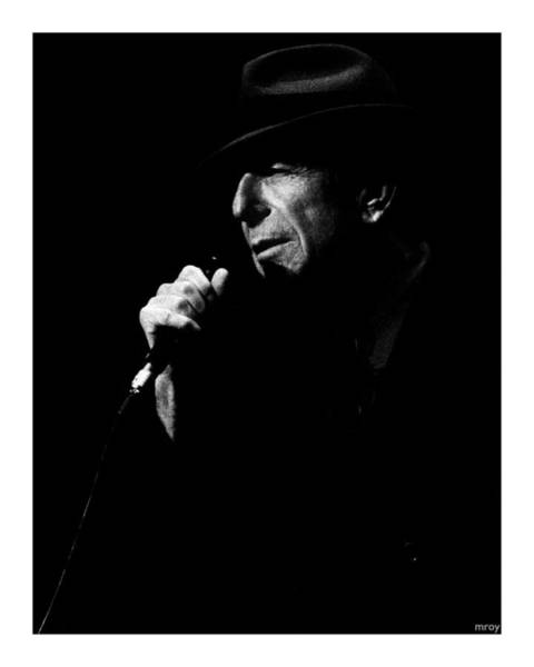 Leonard Photograph - Leonard Cohen by Mathieu L'Heureux Roy