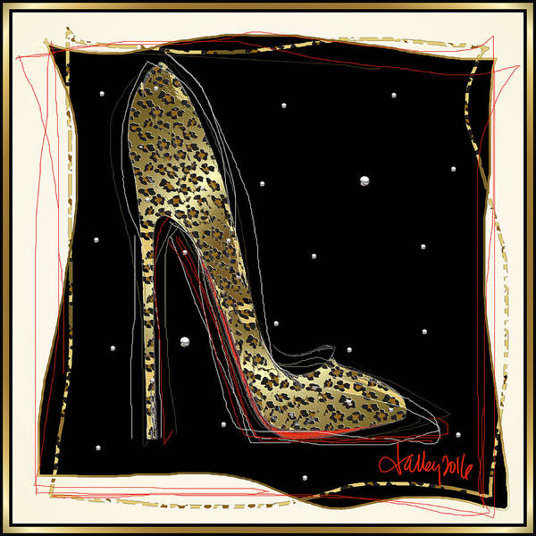 Mixed Media - Leopard Louboutin by Larry Talley