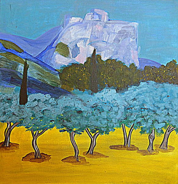 Painting - Les Alpilles by Rusty Gladdish