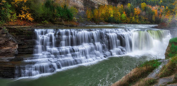 Wall Art - Photograph - Letchworth Lower Falls by Mark Papke
