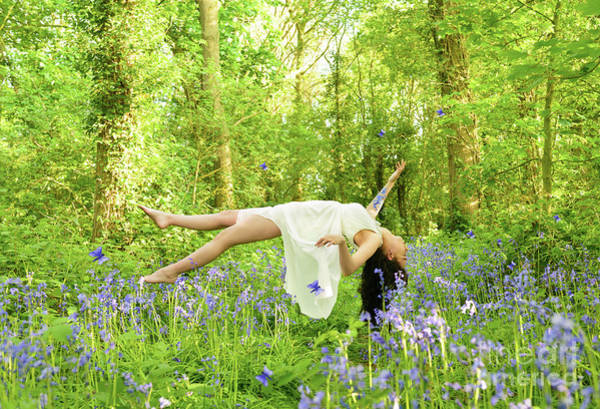 Wall Art - Photograph - Levitation In Bluebells by Amanda Elwell