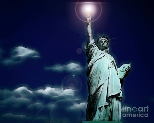 Digital Art - Liberty by Edmund Nagele